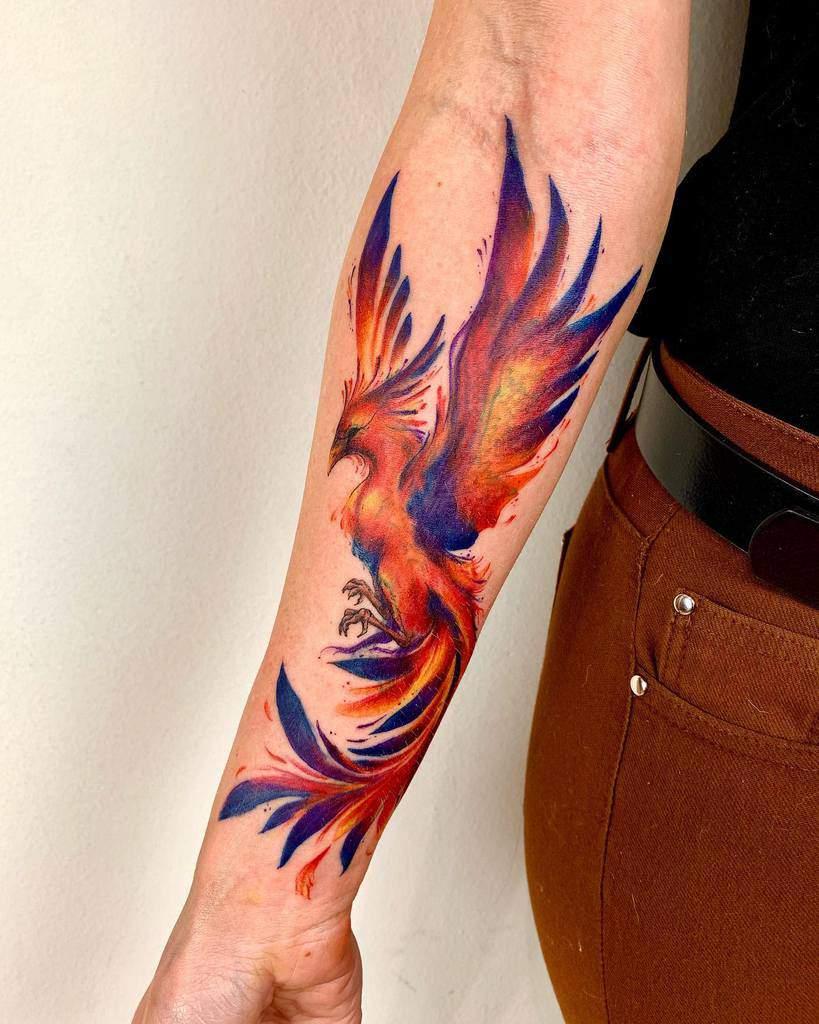Phoenix Rising Arm Tattoo wixien_custom.ink