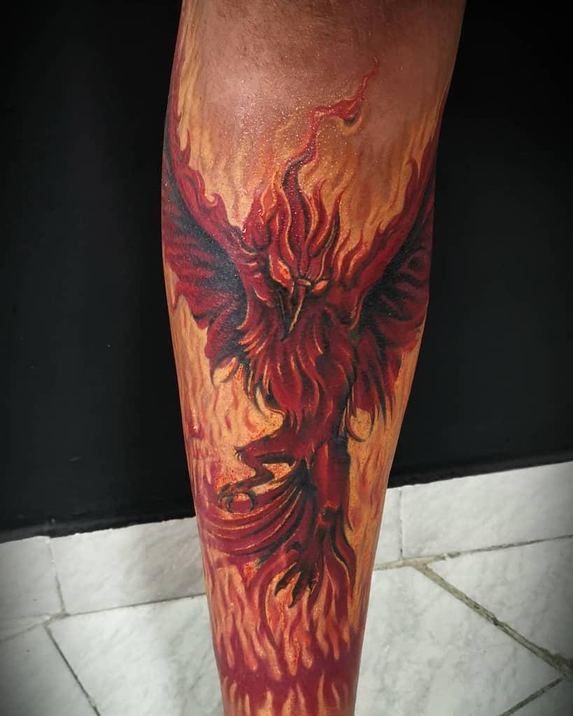 Phoenix Rising Fire Tattoo kellootattoo
