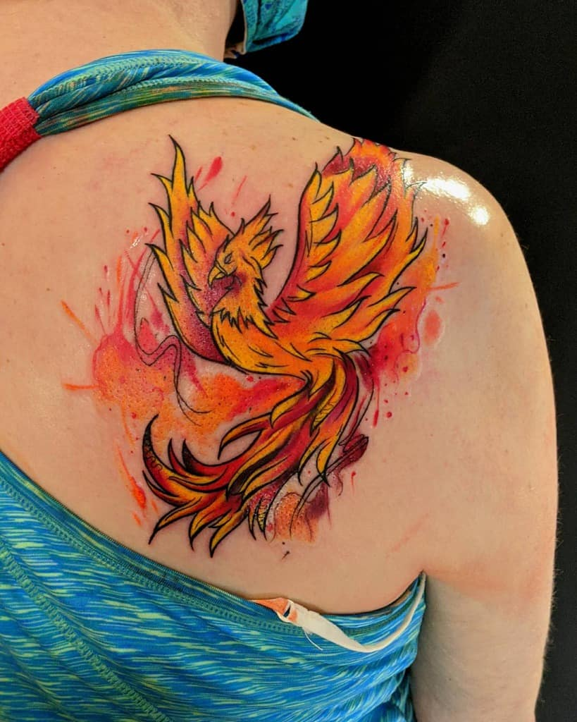 Phoenix Rising Fire Tattoo mikestinta