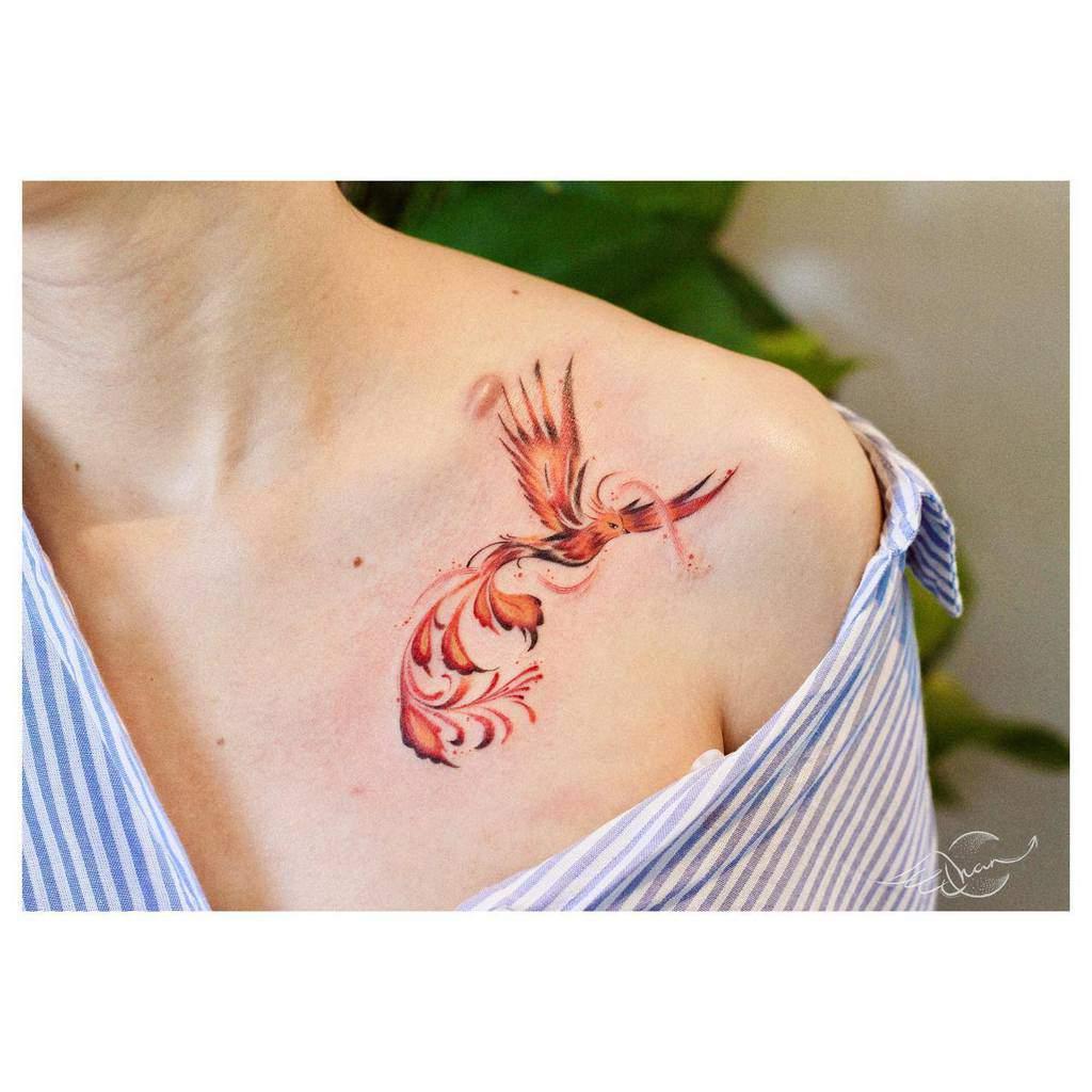 Phoenix Rising Fire Tattoo minie._.chan