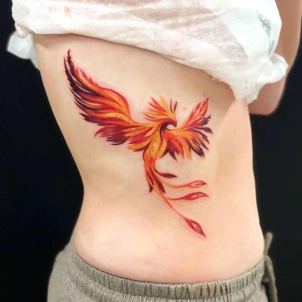 Phoenix Rising Fire Tattoo morrigantattoo