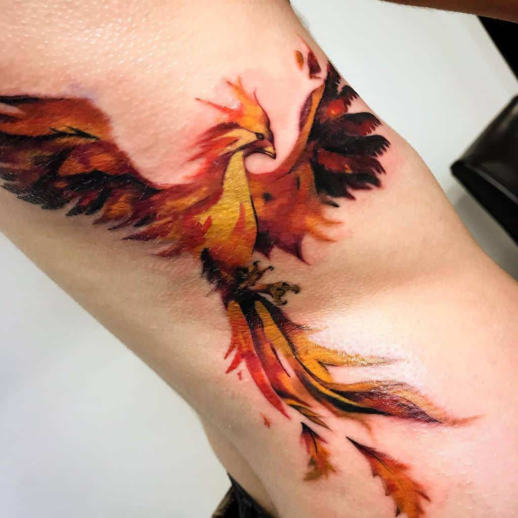 Phoenix Rising Fire Tattoo saulovesink