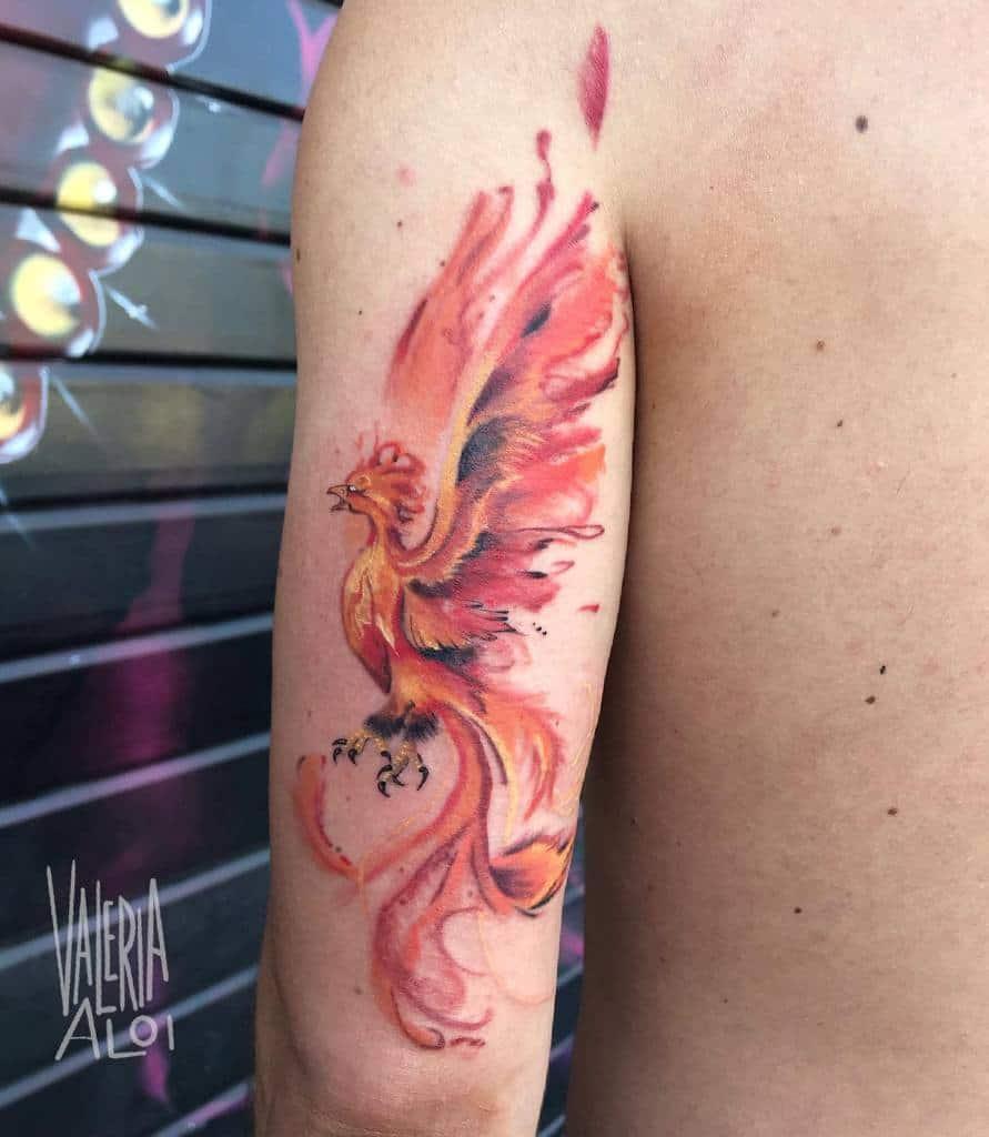 Phoenix Rising Fire Tattoo valeria.cynath_tattooer