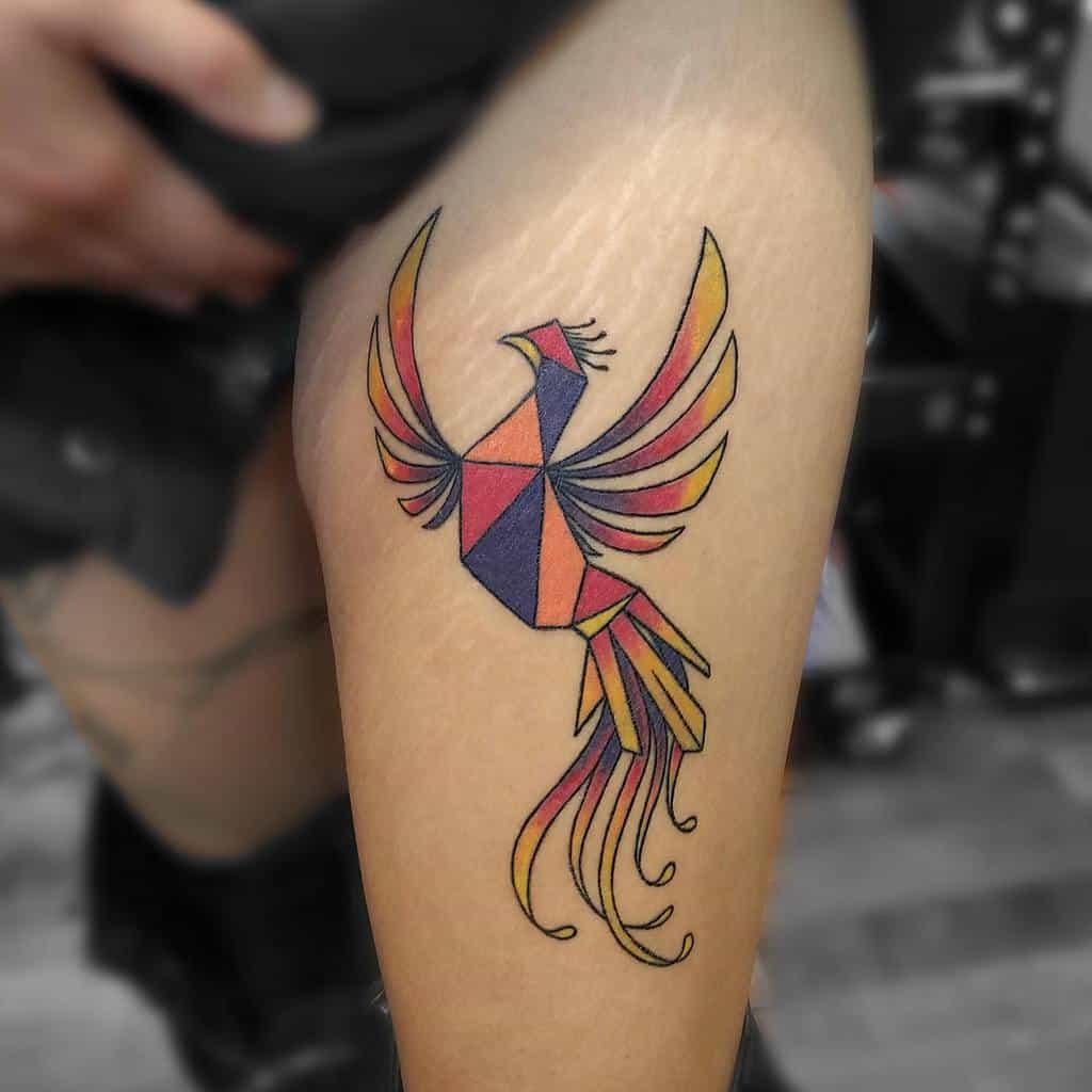 Phoenix Rising Hip Tattoo hackney_tattoo_parlour