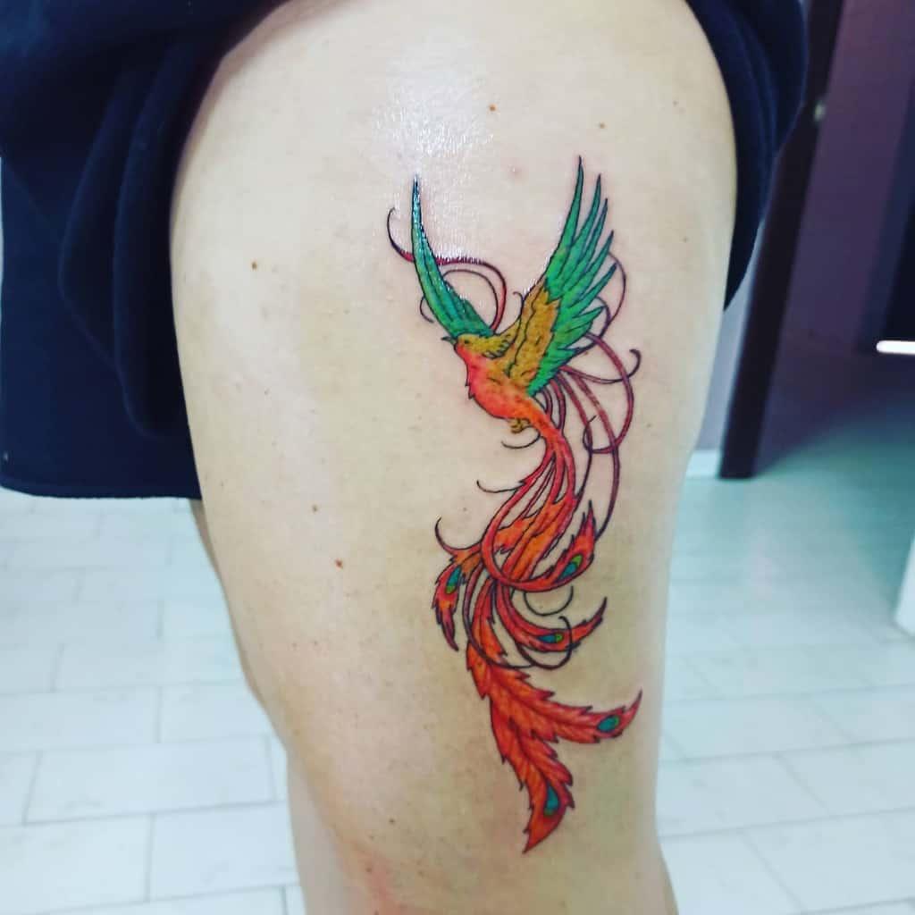 Phoenix Rising Hip Tattoo luiginuccitattooma