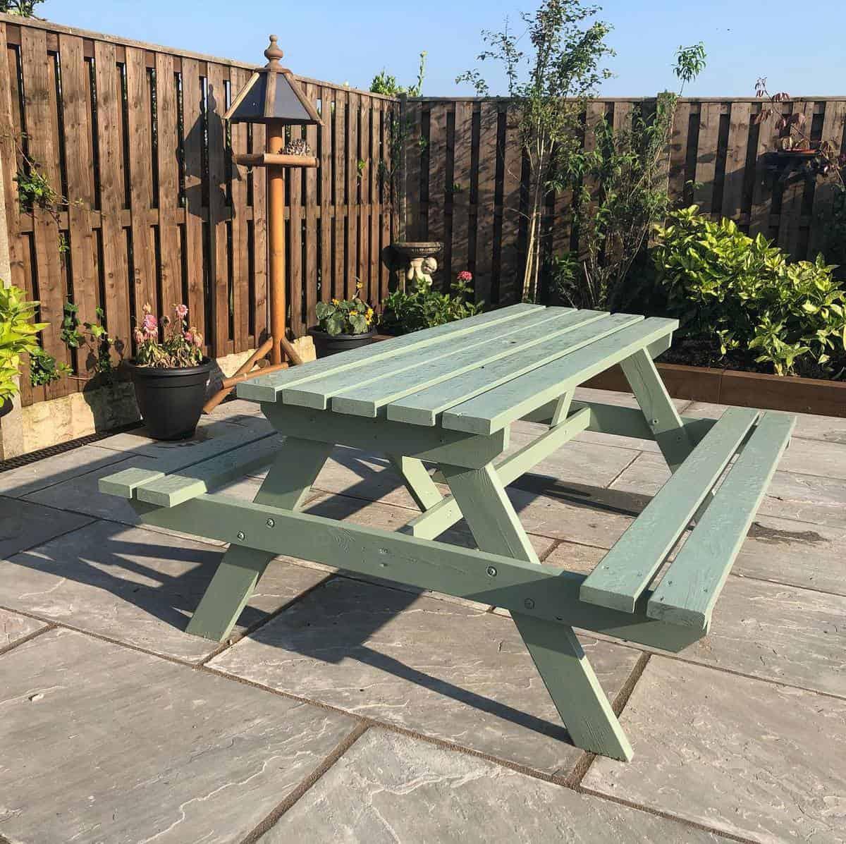 Picnic Set Garden Bench Ideas -ourforeverhome63