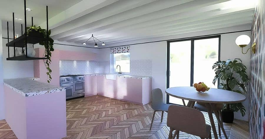Pink Kitchen Cabinet Color Ideas amydowninginteriors