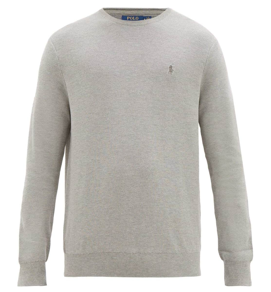 Polo Ralph Lauren Logo-Embroidered Knitted-Cotton Sweater