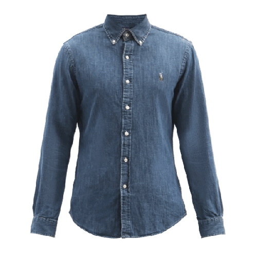 Polo Ralph Lauren Logo-Embroidered Slim Fit Chambray Shirt