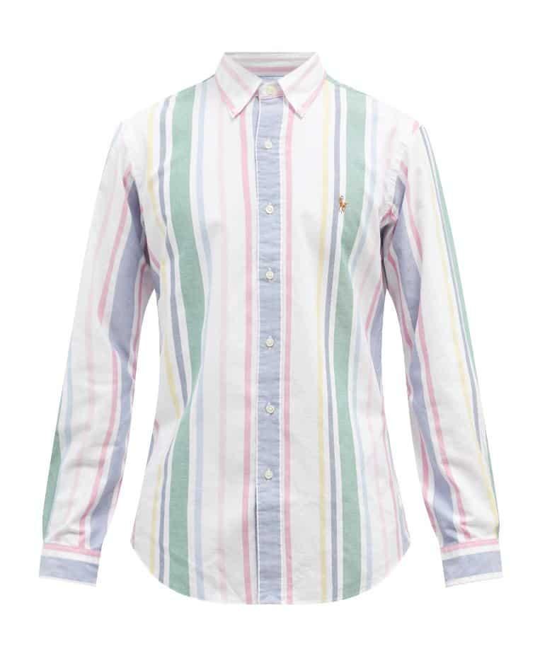 Polo Ralph Lauren Logo Striped Cotton Oxford Shirt