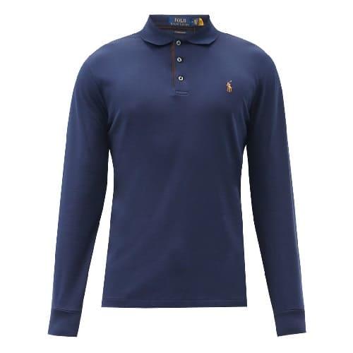 Polo Ralph Lauren Long-Sleeved Slim Fit Polo Shirt