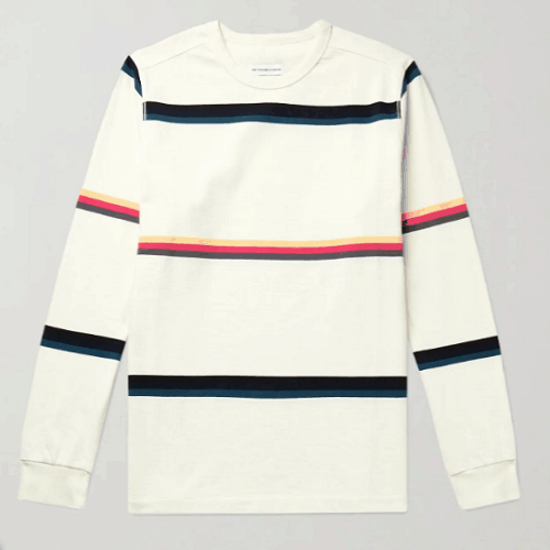 Pop Trading Company Striped Cotton-Jersey T-Shirt