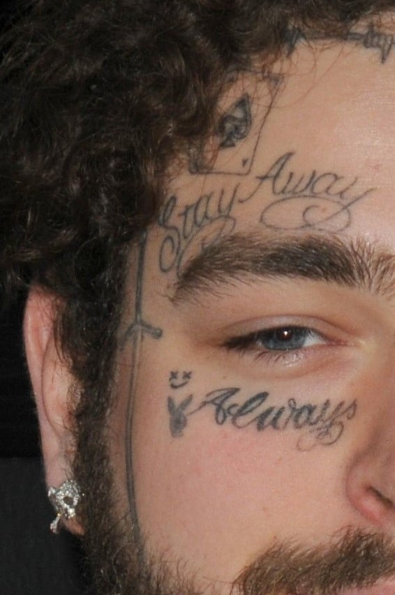 Post Malone Face Right Hand Side Ink