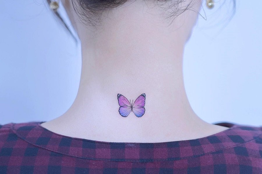 Top 61 Best Purple Butterfly Tattoo Ideas – [2021 Inspiration Guide]