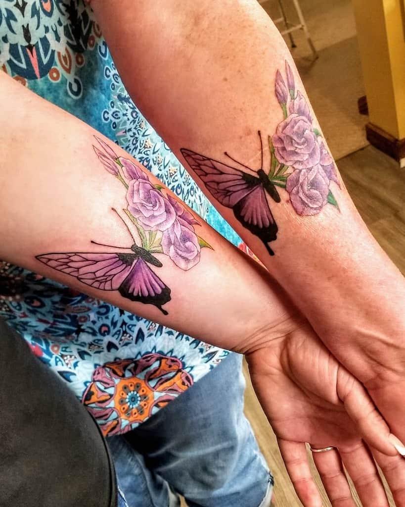 Purple Butterfly Forearm Tattoo jimmy.vonlemon.1