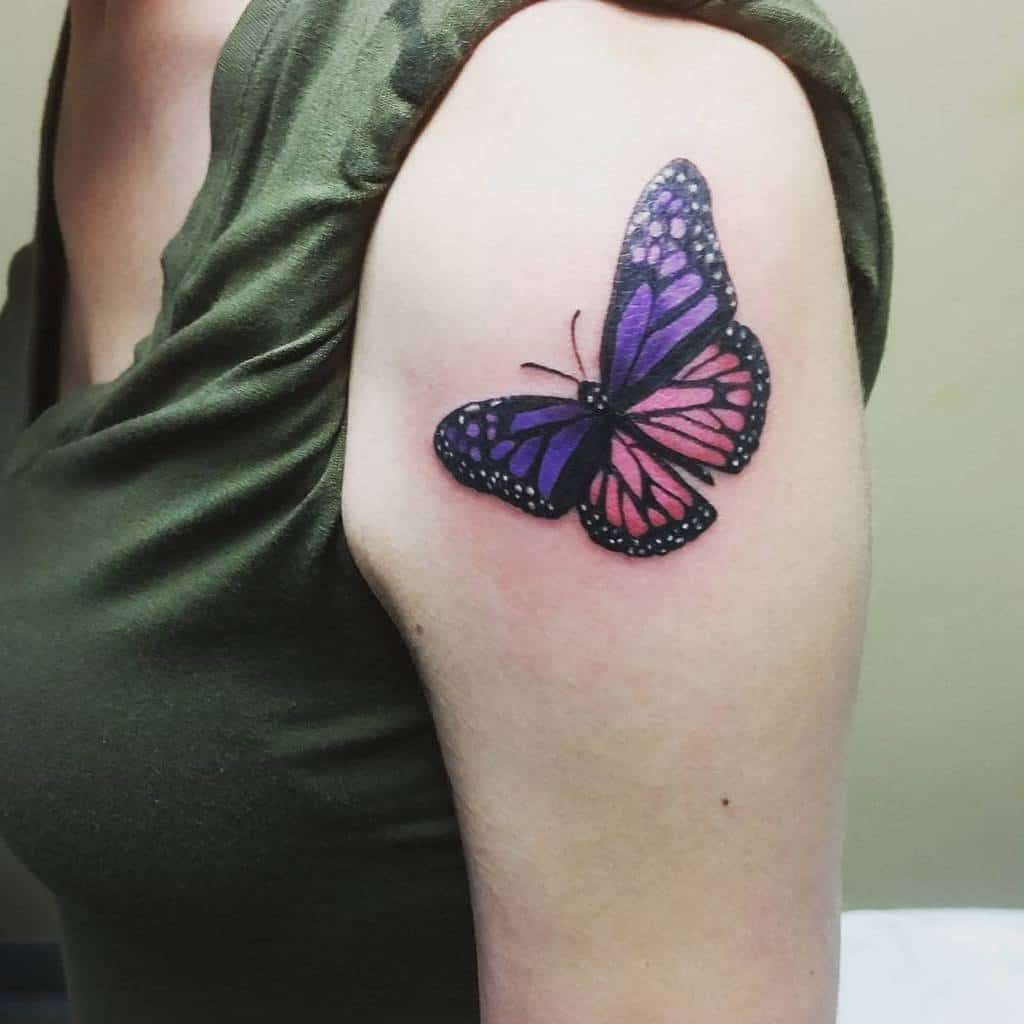 Purple Monarch Butterfly Tattoo meaghan.rhea