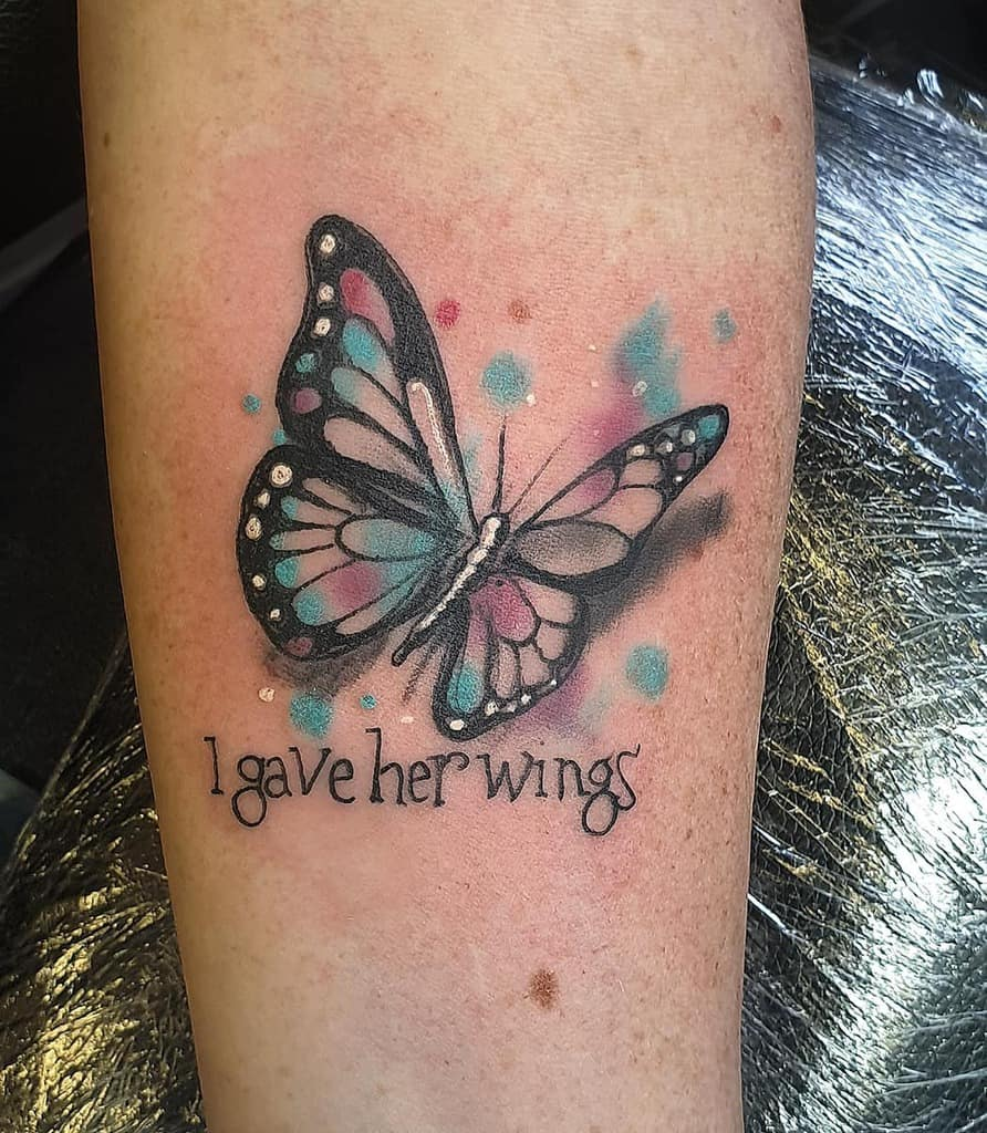 Qoute Butterfly Tattoo Meaning hometowntattoos73