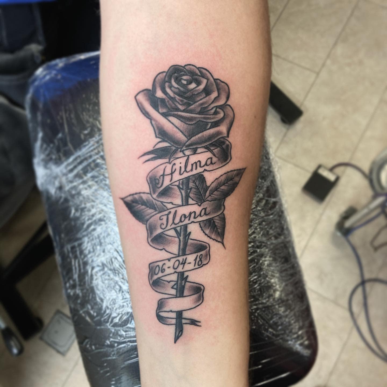 Rose RIP Tattoo Ideas -mautats