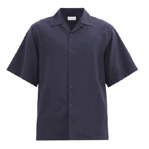 Raey Camp-Collar Crepe Shirt