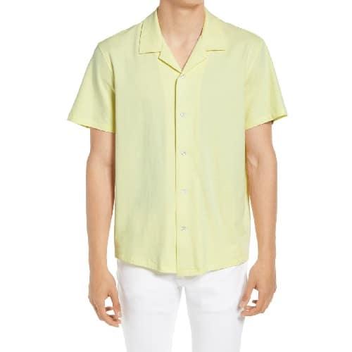 Rag & Bone Avery Knit Short Sleeve Button Up