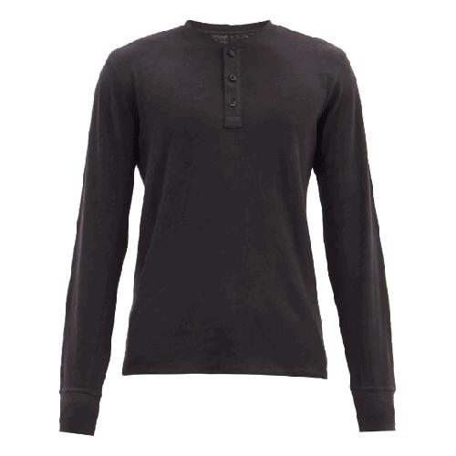 Rag & Bone Classic Slubbed Cotton-Jersey Henley T-shirt