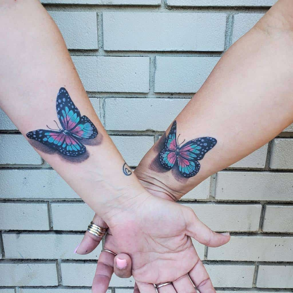Realistic 3D Butterfly Tattoo andrew_hanson_tattooing
