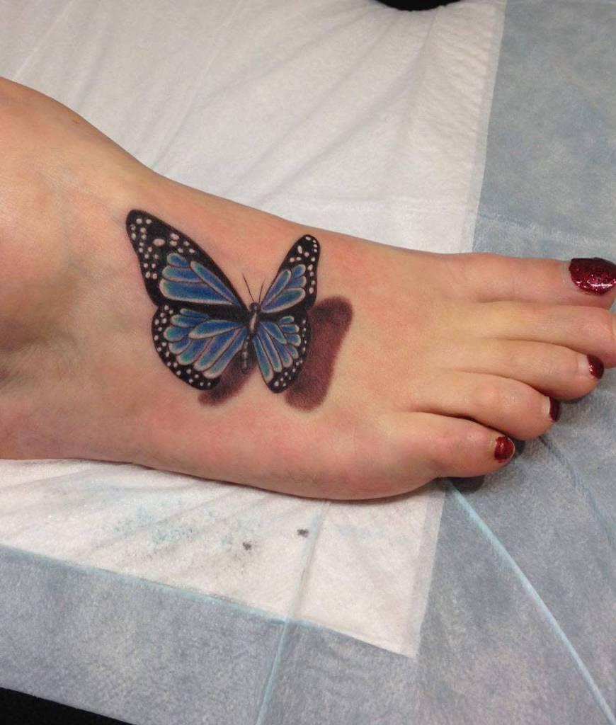 Realistic 3D Butterfly Tattoo bonnie_rita_and_friends
