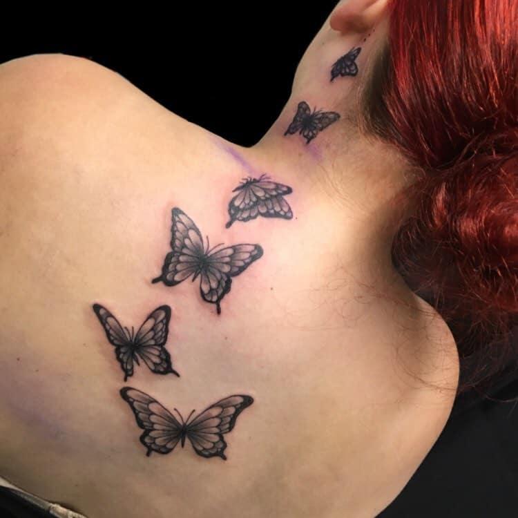 Realistic Black Butterfly Tattoo callmeezora