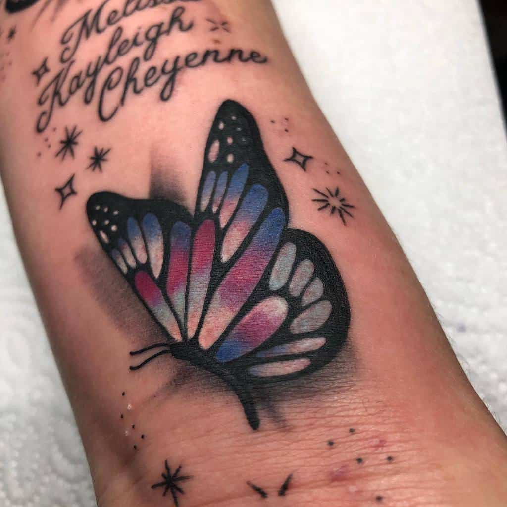 Realistic Black Butterfly Tattoo djeronalaneztattoos