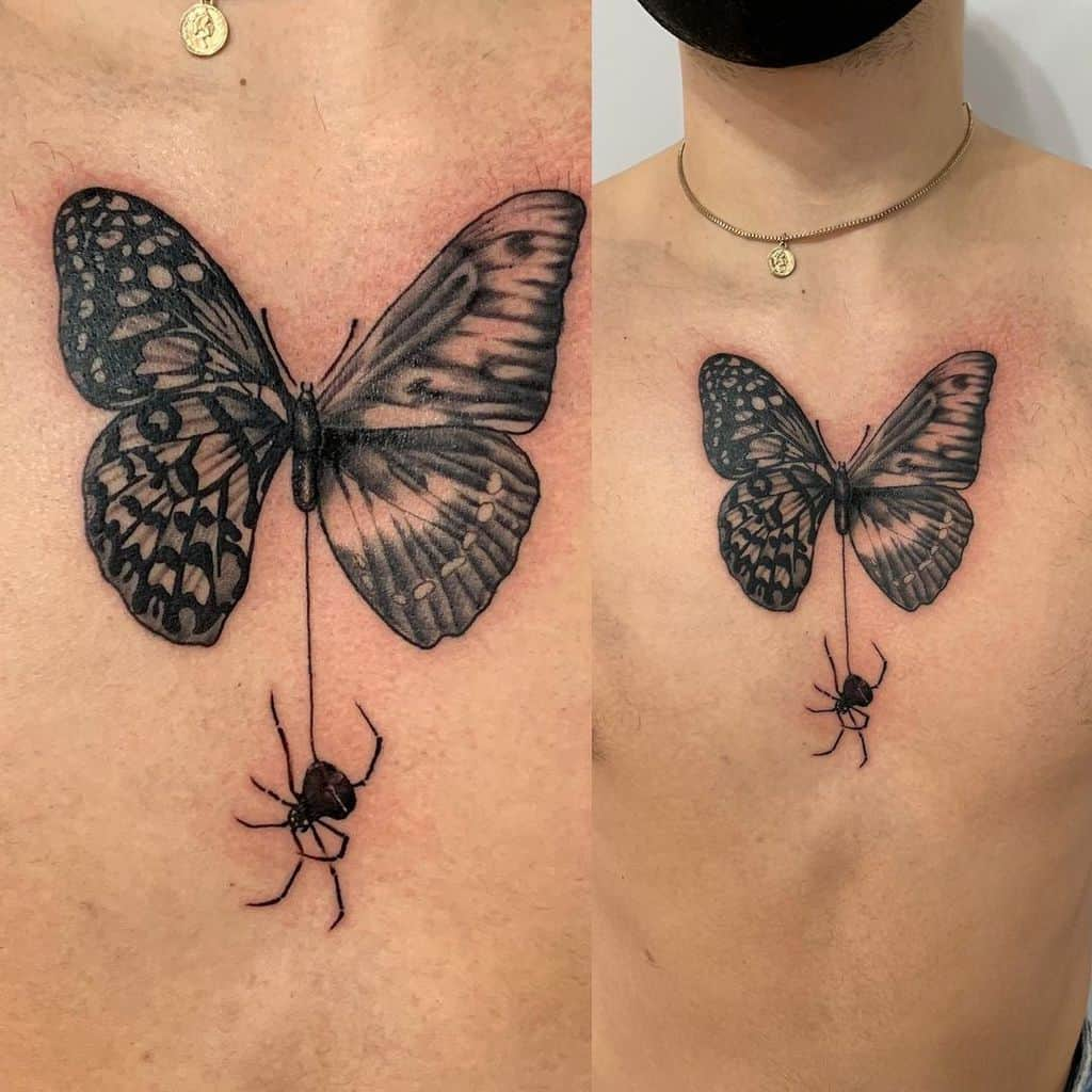 Realistic Black Butterfly Tattoo doms_art_