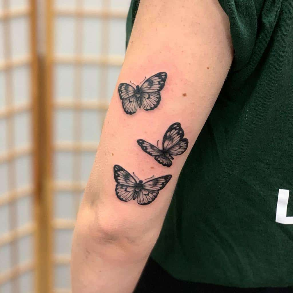 Realistic Black Butterfly Tattoo rupertcleaver