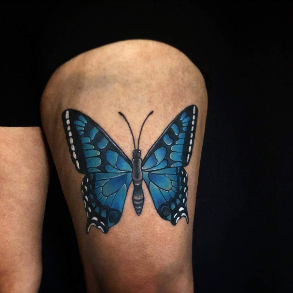 Realistic Blue Butterfly Tattoos artbyphoenixx