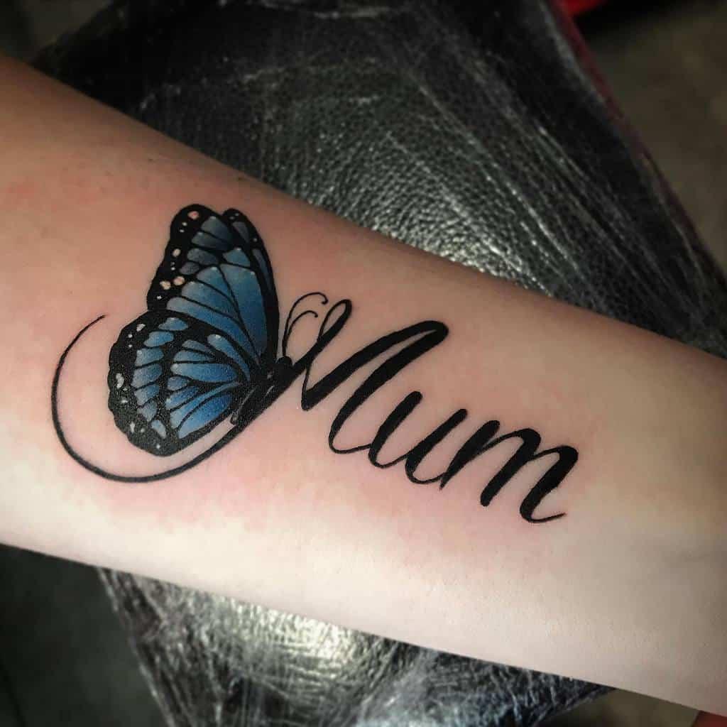 Realistic Blue Butterfly Tattoos goodman.tattoo