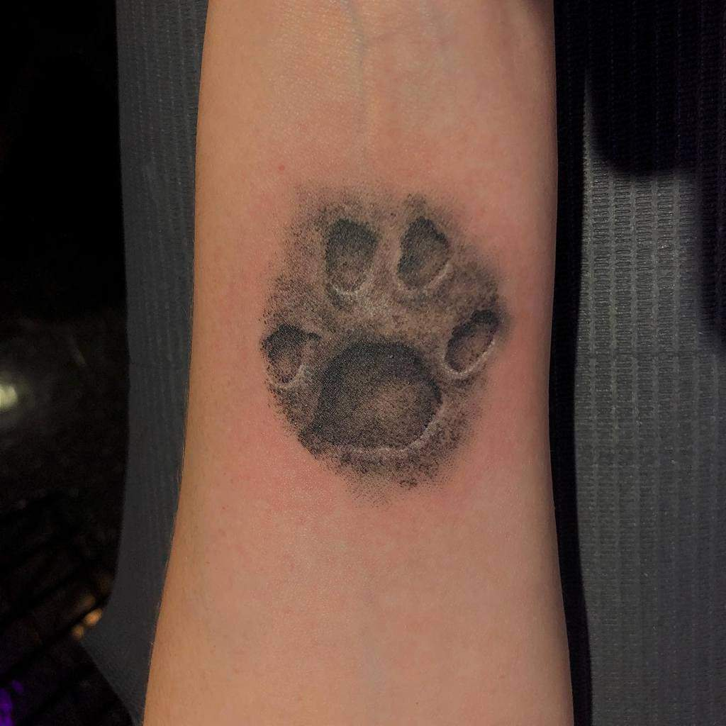 Realistic Cat Paw Print Tattoo kaczynskiartproductions