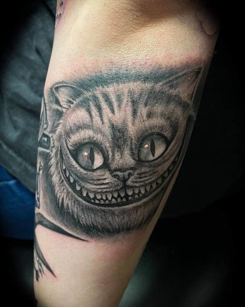 Realistic Cheshire Cat Tattoo bloodlustxtattoo