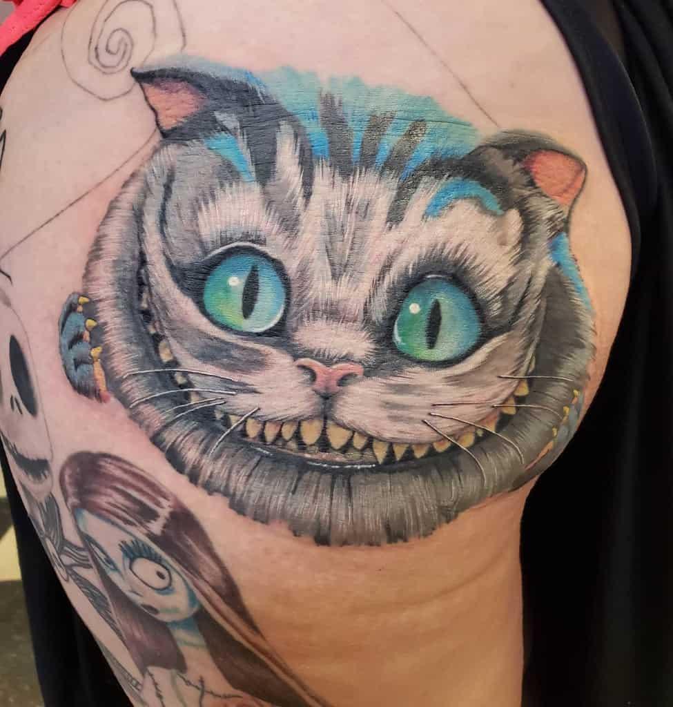 Realistic Cheshire Cat Tattoo cheyennefurrow