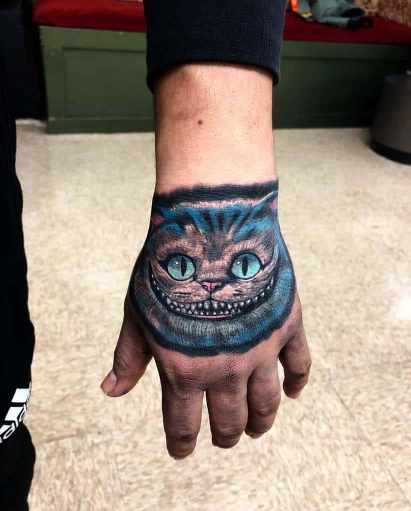Realistic Cheshire Cat Tattoo eddie_stabz