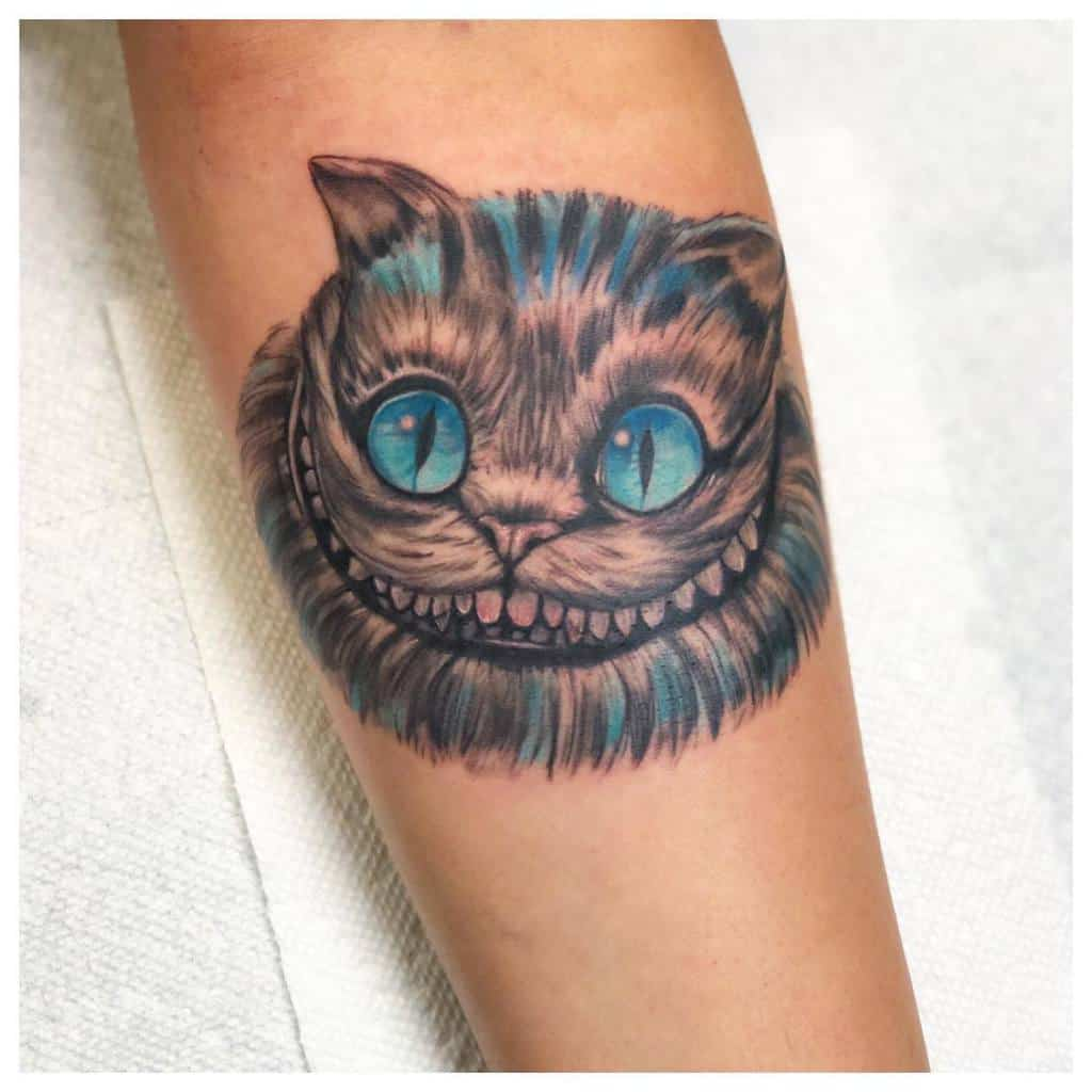 Realistic Cheshire Cat Tattoo jaycunliffe