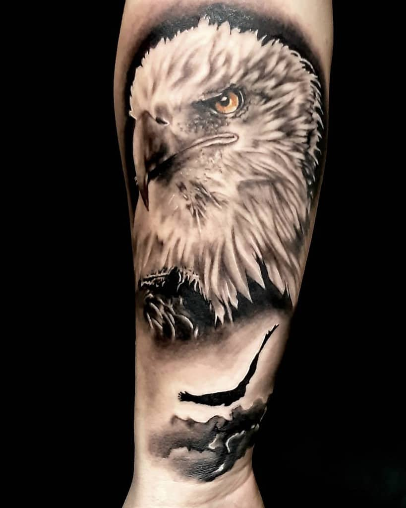 Realistic Eagle Head Tattoo muresantattooart