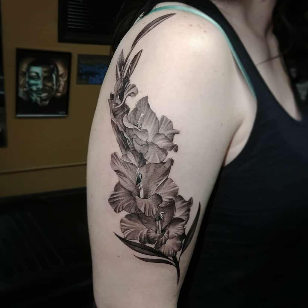Realistic Gladiolus Flower Tattoo nicholasnak