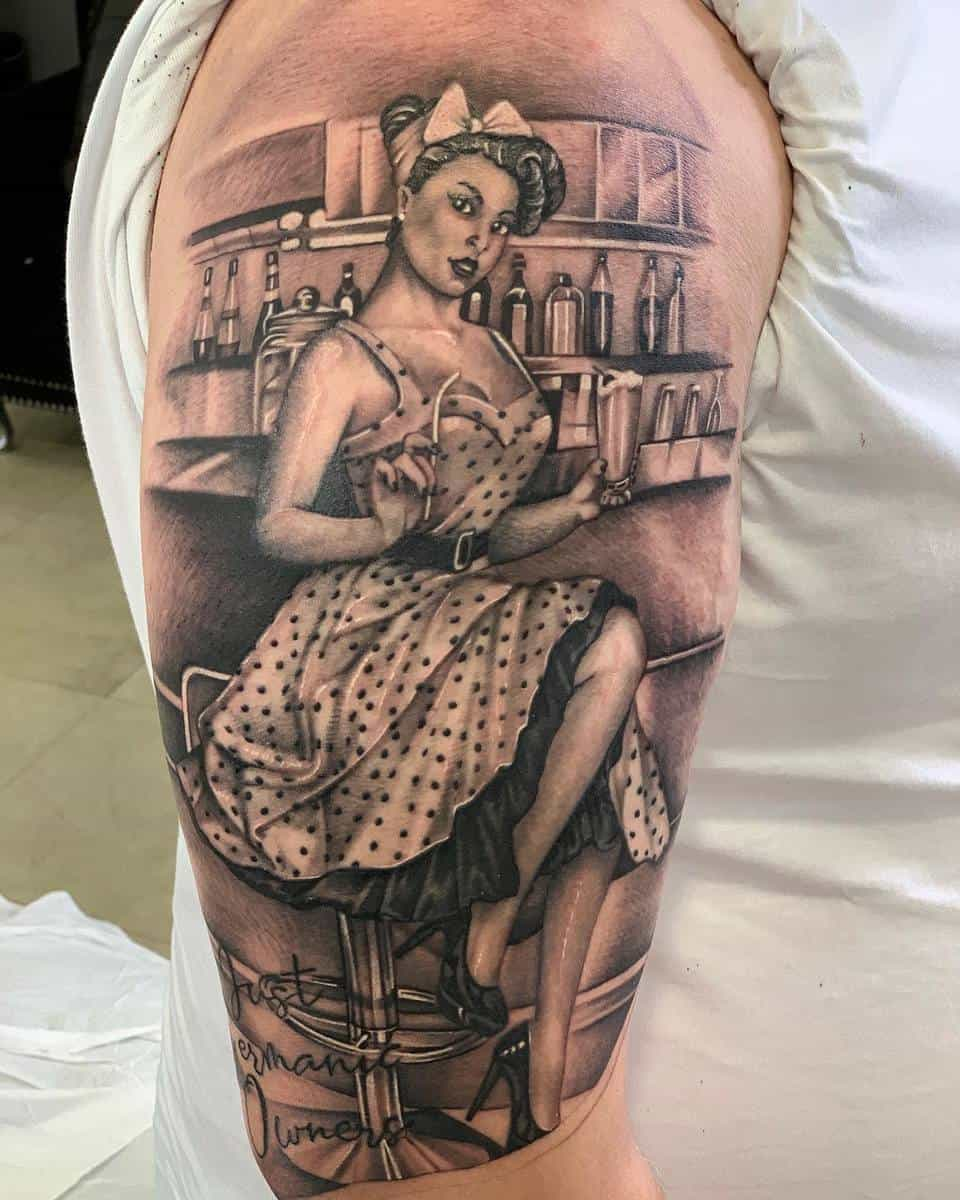 Realistic Pin Up Girl Tattoo -cormosc