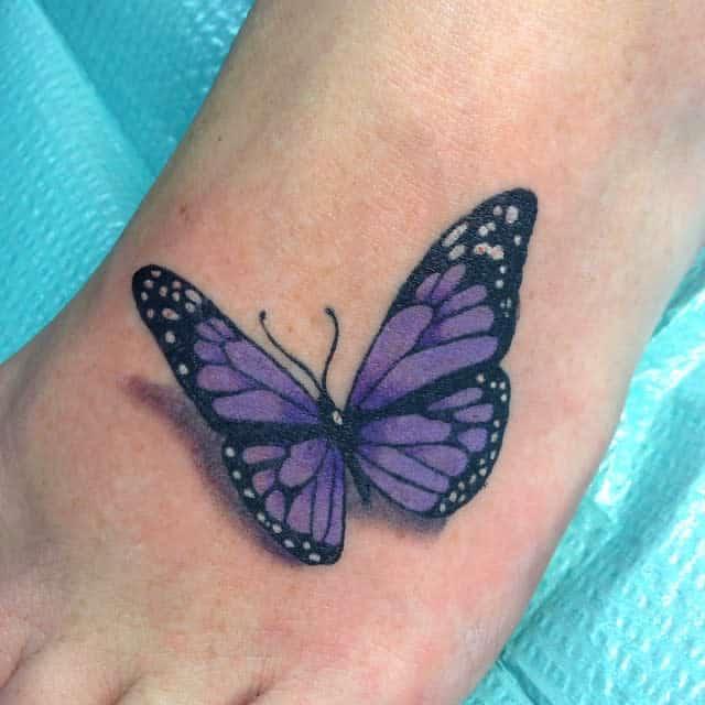 Realistic Purple Butterfly Tattoo artbyb__