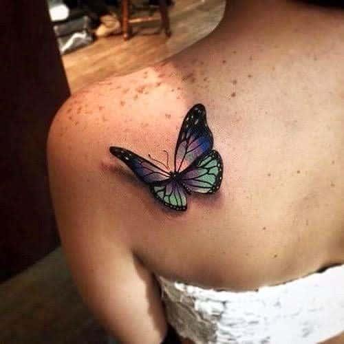 Realistic Purple Butterfly Tattoo jbsmoodboard