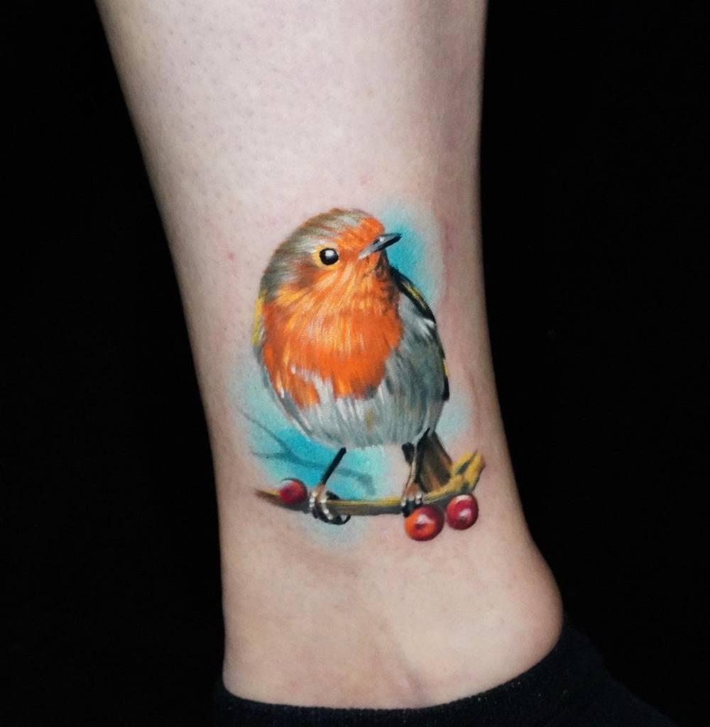 Realistic Robin Tattoo Colinwhitfieldtattoos