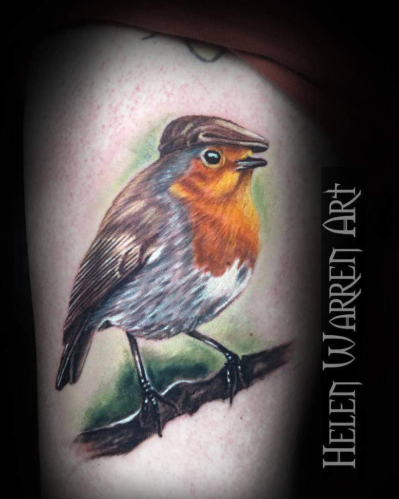 Realistic Robin Tattoo Helenwarrenart