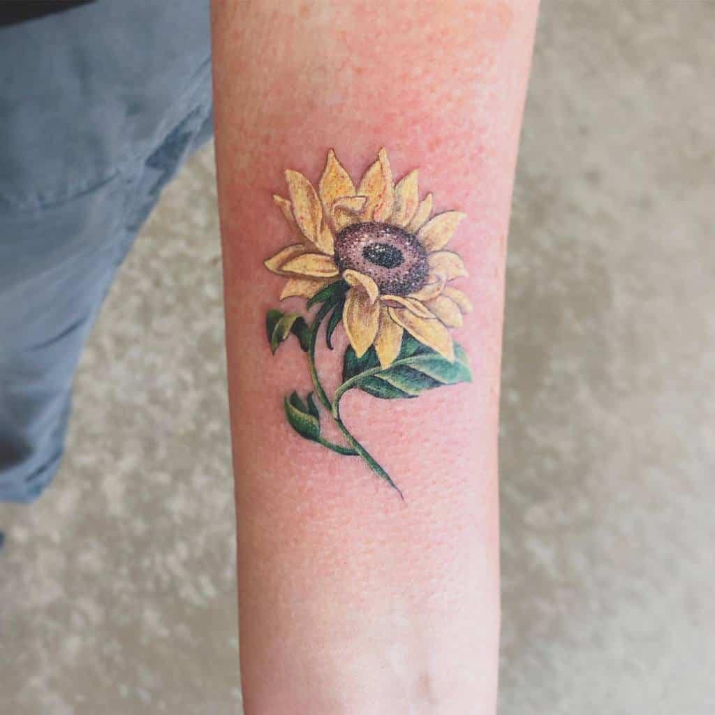 Top 57 Best Small Sunflower Tattoo Ideas 2021 Inspiration Guide