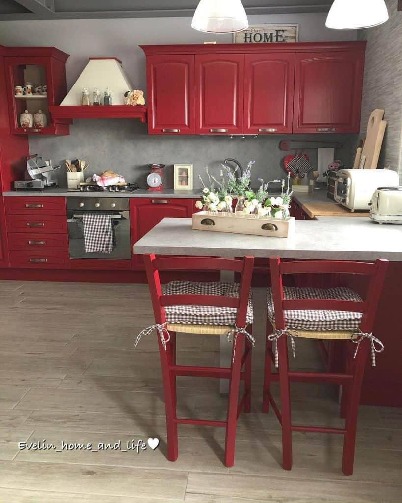 Red Kitchen Cabinet Color Ideas evelin_home_and_life