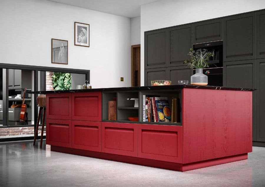 Red Kitchen Cabinet Color Ideas kitchencollection.co.uk