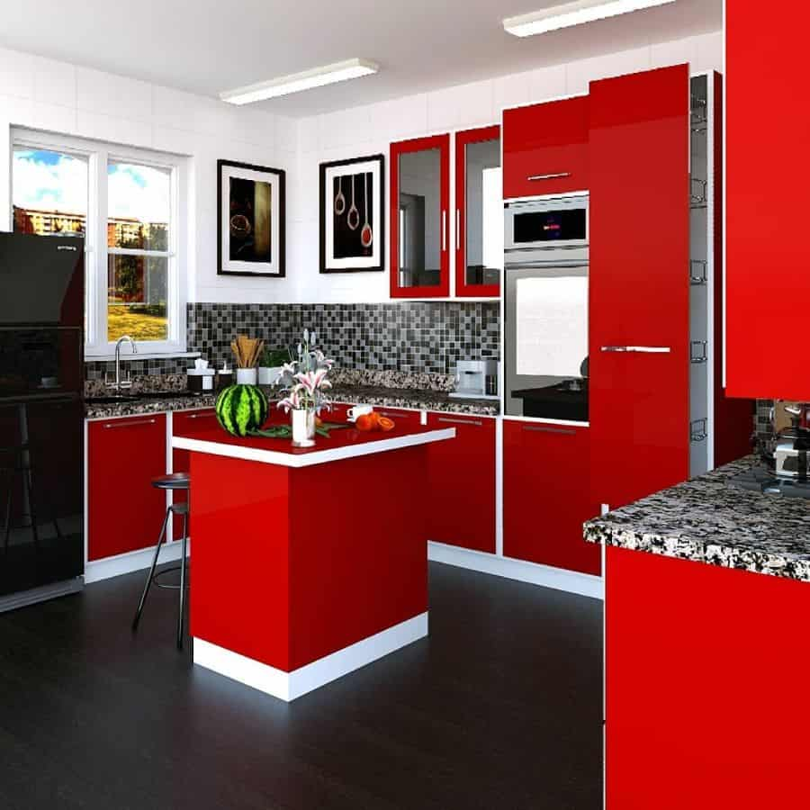 Red Kitchen Cabinet Color Ideas official_hpdstudioz
