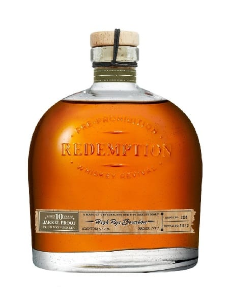 Redemption 10-Year-Old Barrel Proof High Rye Bourbon